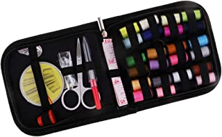 Baosity 51pcs Sewing Kit Measure Scissor Thimble Thread Needle Home Travel Set Case