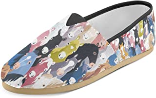Artsadd Fashion Women's Loafers French Bulldog Watercolor Puppy Classic Casual Slip-on Canvas Shoes Sneakers Flats