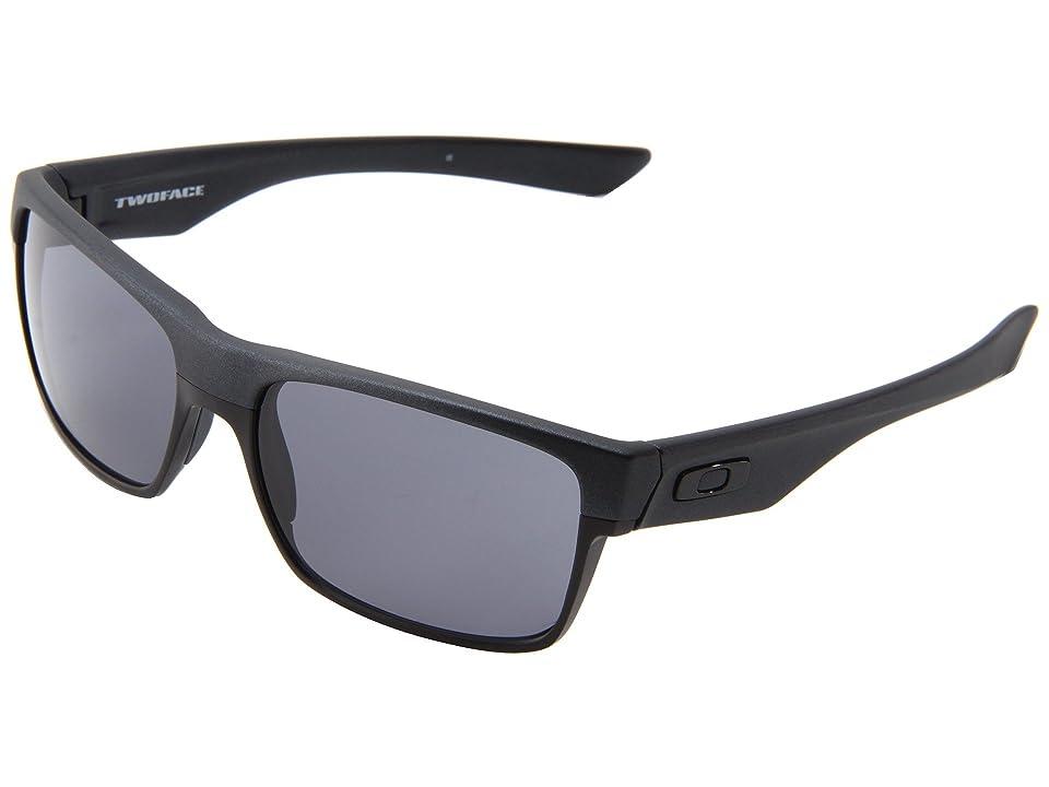 Oakley Two Face (Steel/Grey) Sport Sunglasses