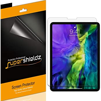 Supershieldz (3 Pack) for Apple iPad Pro 11 inch (2020 and 2018 Model) Screen Protector, Anti Glare and Anti Fingerprint (Matte) Shield