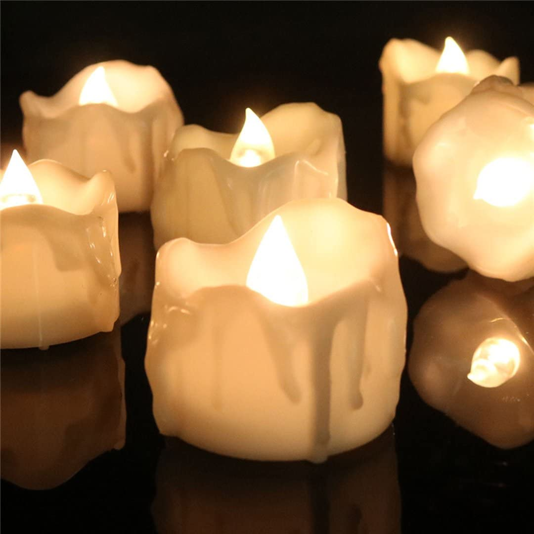 Set of 48 Wax-drip Flameless Tea List price with Lights Flickering 55% OFF Timer Ca