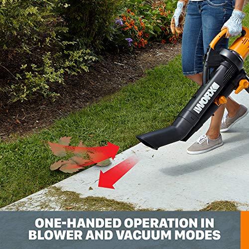 WORX WG505 3-in-1 Blower/Mulcher/Vacuum, 9 x 15 x 20, Orange and Black