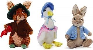 GUND 3 Piece Baby Nursery Plush Bundle, Peter Rabbit, Benjamin Bunny and Jemima Puddle Duck