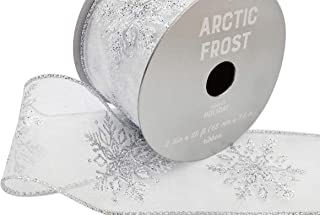 arctic holiday decorative wired ribbon
