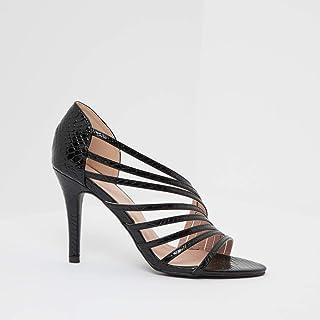 Shoexpress Textured Strap Sandals with Stiletto Heels