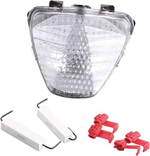 lowest Mallofusa Motorcycle Integrated Taillight LED Brake new arrival Tail Light Compatible online sale for HONDA CBR250R 2011 2012 Clear Lens outlet sale