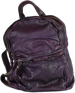 BZNA Bag Ben Aubergine Lila Backpacker Designer Rucksack Damenhandtasche Schultertasche Leder Nappa ItalyNeu