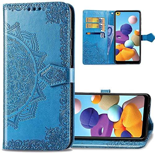 IMEIKONST Billetera Caso para Samsung A520, Mandala En Relieve Carcasa de Telefono...