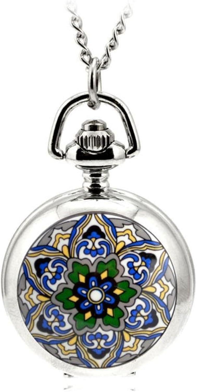 XM Enamel cartoon retro star snowflake necklace Pocket Watch quartz watch