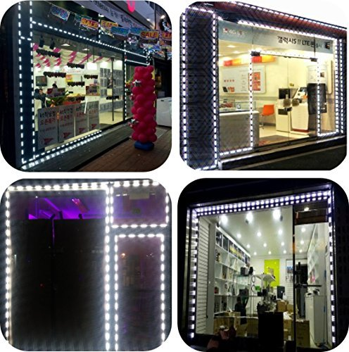 LUXDIYLED Storefront Window LED Lights All in One Kit Built-in Protective Cap Plug&Play (50ft)