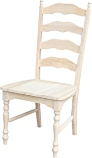 Best farmhouse ladder back chairs Reviews