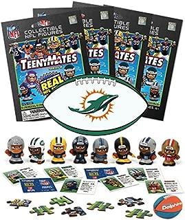 TeenyMates NFL Series 6 Mini Figures (4 Blind Packs) plus NFL Sticker & NFL Eraser Puzzle Mystery Packs