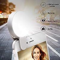 Juhefa Rechargeble & 3-Levels Brightness Clip-on LED Camera Light