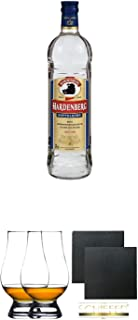 Hardenberg Doppelkorn 0,7 Liter  The Glencairn Glass Whisky Glas Stölzle 2 Stück  Schiefer Glasuntersetzer eckig ca. 9,5 cm Durchmesser 2 Stück