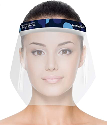 Healthgenie Face Shields Pack of 10 Safety Face Shield 350 Microns Unbreakable Shield for Men and Women