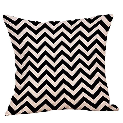 ZHFZD Oversized schattige kussens, zachte stof zwart-wit patroon kussensloop katoen linnen kussensloop ZHFZD 45 cm*45 cm H