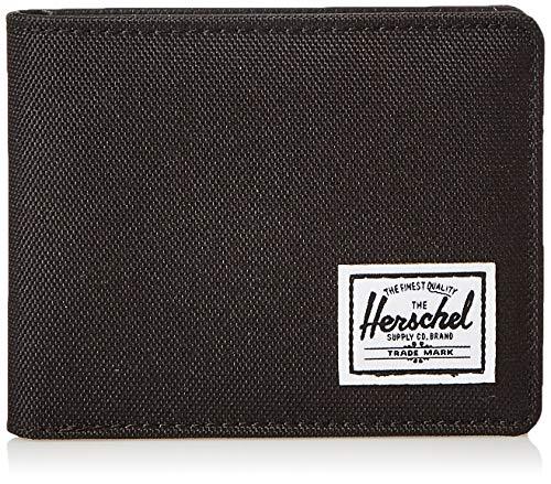 Herschel unisex adult Hank Rfid Bi Fold Wallet, black black Synthetic Leather, One Size US