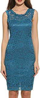Teresamoon Womens Lace Elegant Cocktail Dress for Party