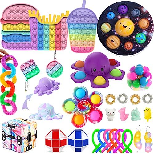 Tiktok Fidget Pack 35 piezas Sensory Fidget Toy Sets Push Bubble Fidget Toy Kits de estrés Ansiedad Juguetes El mejor regalo para adultos y niños (5)
