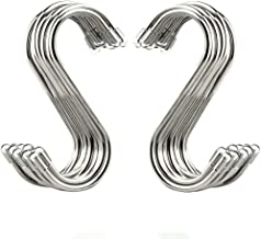 20 Pack S Shaped Hooks Stainless Steel Metal Hangers Hanging Hooks for Kitchen, Work Shop, Bathroom, Garden