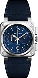 Bell & Ross Instruments Blue Dial and Strap Men's Watch - Ref: BR0394-BLU-ST/SCA