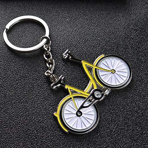 New Yellow bicycle Key chain men fashion Creativity Metal Car Key Ring Women Bag charm key holder Best gift Jewelry K1971