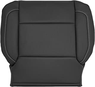 Richmond Auto Upholstery - Driver Side Bottom Replacement Seat Cover Perforated (Compatible with 2015-2018 Chevy Silverado 1500, 2500, 3500 & 2015-2018 GMC Sierra 1500, 2500, 3500) (Jet Black)