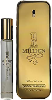 Paco Rabanne 1 Million Gift Set For Men - 3.4 Ounce Eau De Toilette + 0.68 Ounce Travel Spray, 4.38 Ounce