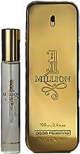 Paco Rabanne Paco rabanne 1 million gift set for men (3.4 ounce eau de toilette + 0.68 ounce travel spray), 4.08 Ounce