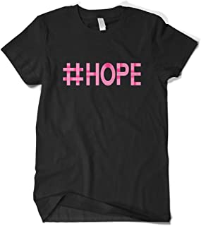 Cybertela Men's Hashtag #Hope Breast Cancer Awareness T-Shirt