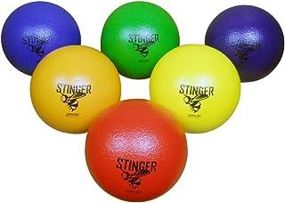 "GSM Brands Dodgeballs - Foam, Soft Skin, Low Bounce, 6"" - Set of 6 Dodge Balls for Kids and Adults"