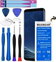 Galaxy S8 Plus Battery, MAXBEAR [3500mAh] Lithium Polymern Internal Battery Replacement for Samsung Galaxy S8 Plus SM-G955 EB-BG955ABE with Repair Tool Kit.[18 Month Warranty]