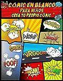 Cómic en Blanco Para Niños: cree su propio libro y dibuje su propia historia, variedad de plantillas, diseños de paneles de 4 a 8, cuaderno de bocetos, creador de cómics