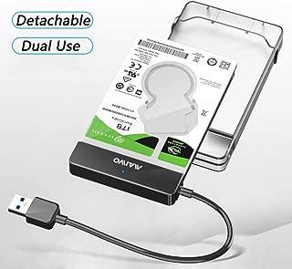 2.5-Inch SATA to USB 3.0 Tool-Free External Hard Drive Enclosure [Optimized for SSD, Support UASP SATA III] Black,6TB, MAIWO K104