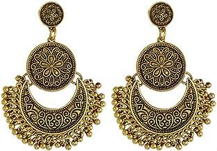 Demana Tassel Earrings Bohemian Tassel Drop Vintage Retro Tassel Dangle Earrings for Women Girls