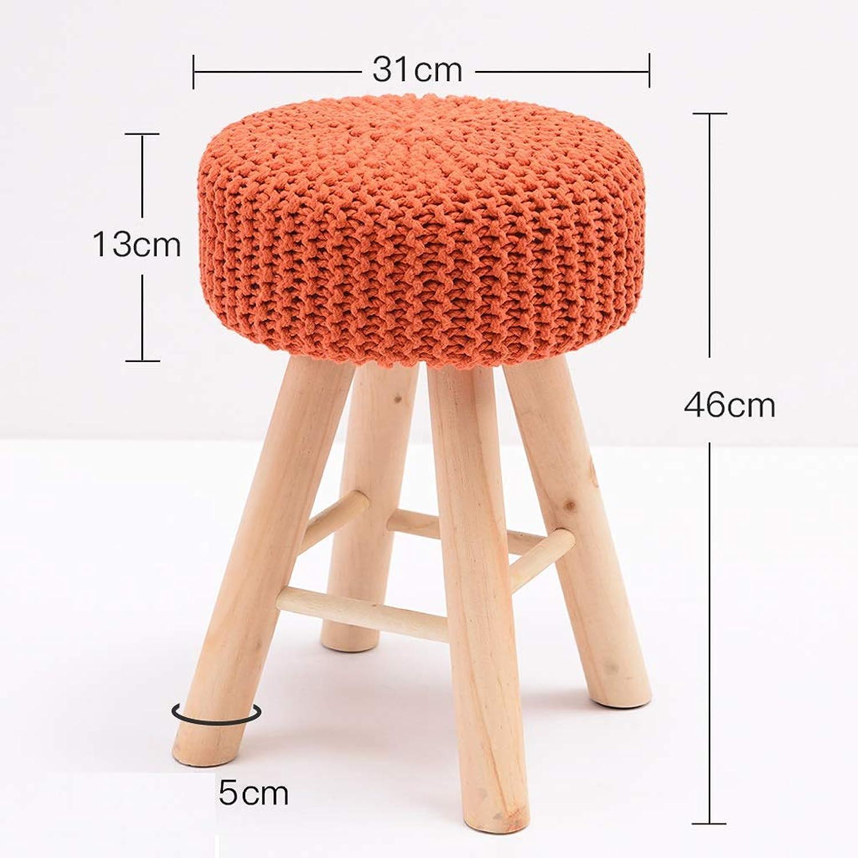 Hzpxsb Solid Wood Stool Fashion Sofa Stool Creative Dressing Stool Modern Home Makeup Stool (color   orange)