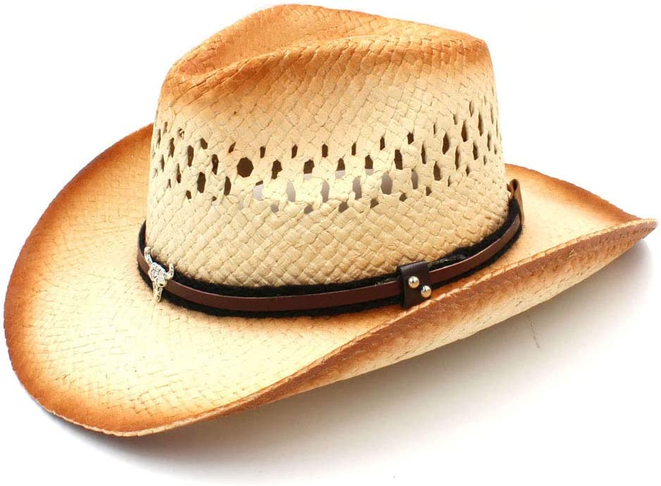Women Men Western Cowboy Hat With Head Quantity Same day shipping limited Straw Punk Band Bull Lady