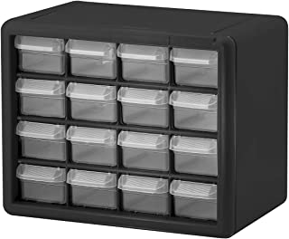 Akro-Mils 16 Drawer 10116, Plastic Parts Storage Hardware and Craft Cabinet, (10-1/2-Inch x 8-1/2-Inch x 6-1/2-Inch), Blac...