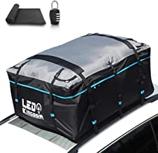 LEDKINGDOMUS Rooftop Cargo Bag, Waterproof 19 Cubic Feet Truck Cargo Carrier,600D Oxford with PVC Coating Roof Top Bag for All Cars with/Without Rack, Includes Straps/Hooks/Protective Mat/Lock
