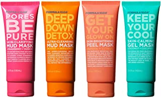 Formula 10.0.6 Mask Collection (4 Piece Kit) Includes Pores Be Pure, Get Your Glow On, Deep Down Detox & Keep Me Clean -Ve...