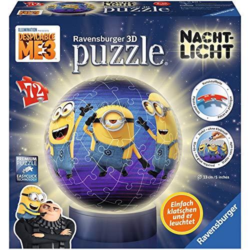Ravensburger 11817 Minions Nachtlicht: Ich - einfach unverbesserlich 3 3D-Puzzle