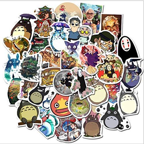 DUOYOU Hayao Miyazaki Anime Series Graffiti Impermeable Monopatín Maleta de Viaje Teléfono Portátil Equipaje Pegatinas Lindo Niños Niña 100 Piezas