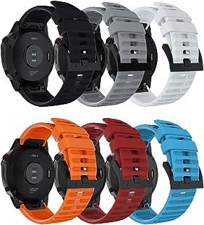 Junboer متوافق مع Fenix 6 Watch Band، 22 مم سريعة صالح لينة سيليكون استبدال الفرقة الرياضية ل Fenix 6/Fenix 6 Pro/Fenix 5 ...