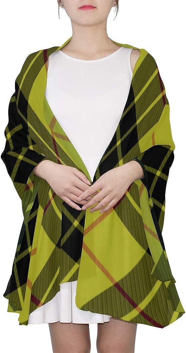 Fashion Scarfs For Women Lightweight Yellow Plaid Tartan Abstract Scarf Shawl Scarf Hanger Lightweight Print Scarves Scarf Wrap Shawl Wrap