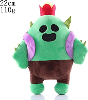 HHtoy Cactus Plush Figures Toy Brawl Stars Anime Game Stuffed Soft Doll for Children Kids Cactus Pendant Pillow Cushion Gift (Size : 22cm)