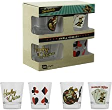 Official DC Comics Suicide Squad Harley Quinn Shot Glass Set - Boxed Movie Gift