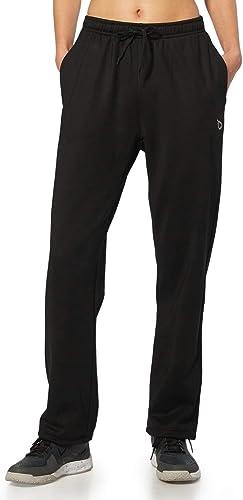 BALEAF Women's Running Thermal Fleece Pants Zipper Pocket Athletic Joggers Sweatpants Adjustable Ankle Winter Track P...