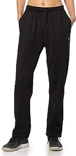 BALEAF Women's Running Fleece Open Bottom Pants Zip Pockets Athletic Warm Winter Jogging Pants Adjustable Ankle Sweatpants