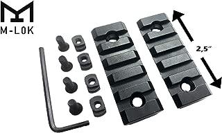 Gotical 5 Slots M-LOK Rail Section for M Lok Handguard Five Slots Rail Picatinny Rail Set of 2 Pieces