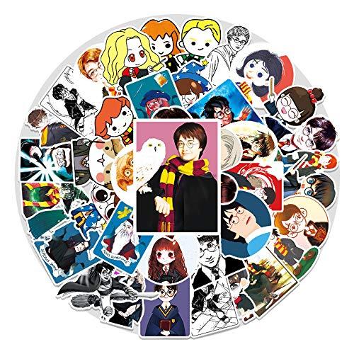 YMSD [56 piezas] Cartoon Harry Anime PVC Cool impermeable graffiti calcomanías, Potter VSCO pegatinas para niñas, lindas pegatinas para regalos de niños
